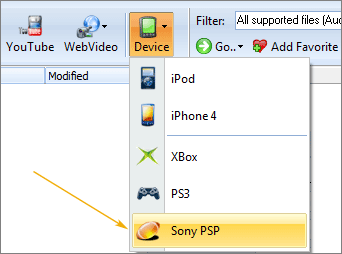 video to PSP
