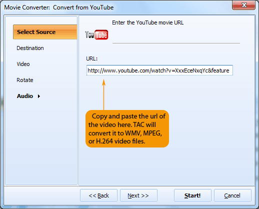 How to convert YouTube links