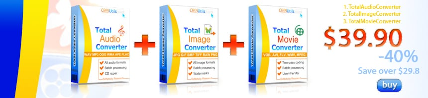 Audio Image Movie Converters