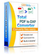 Convert PDF to DXF in batch