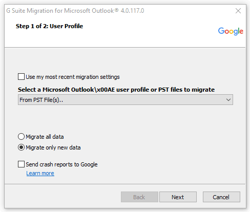 view PST with Google GAMMO Tool