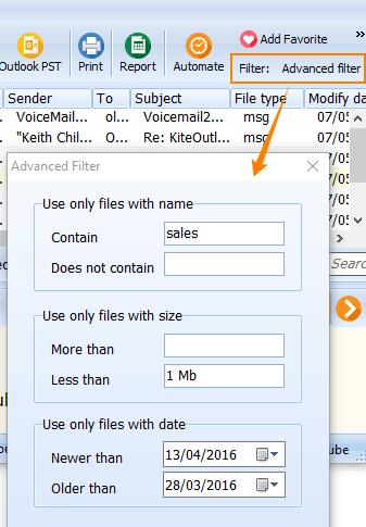 mail converter filter