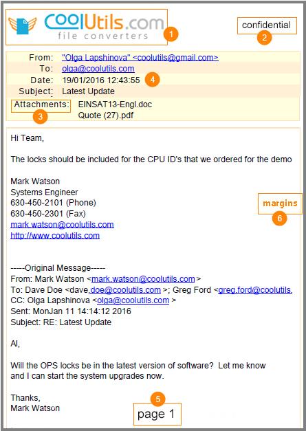 mail to pdf sample