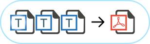 merge text to pdf