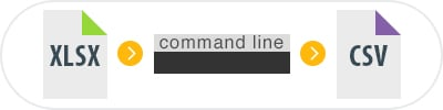 Convert XLSX to CSV Via Command Line