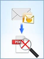 Convert Outlook Emails to a non-searchable PDF