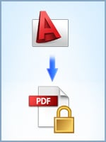 Convert CAD drawings to encrypted PDF