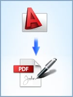 Convert CAD drawings and sign the resulting PDF