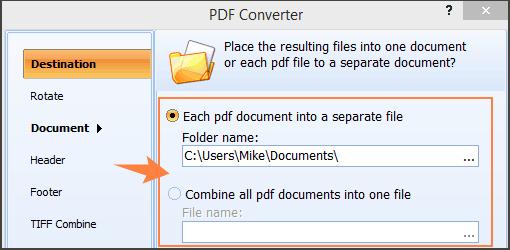 extract pdf tiff