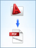 Convert DWG drawings to PDF and add watermarks