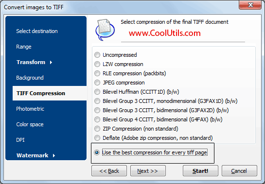 best way to convert pdf to tiff