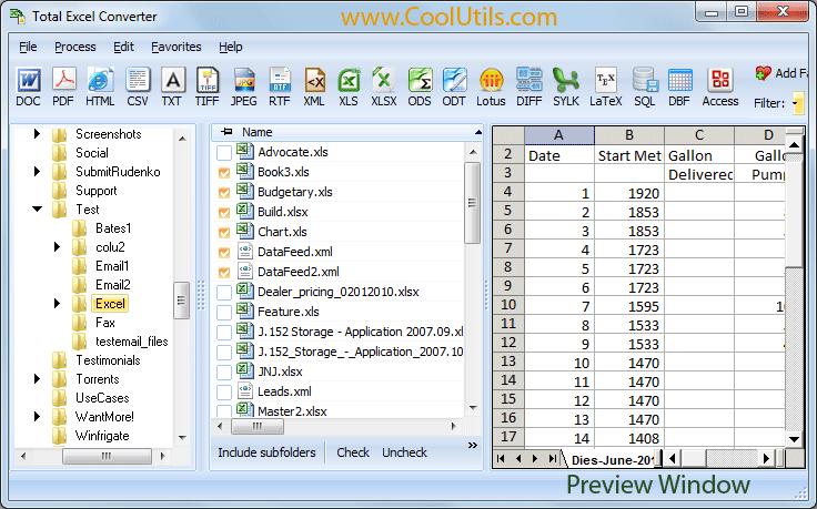 excel converter coolutils