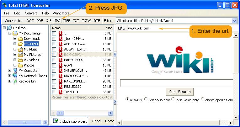 convert mht files to jpeg
