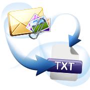 E-mails met de bijlagen naar TXT omzetten