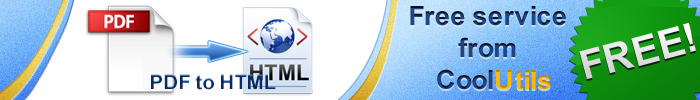convert pdf to html free