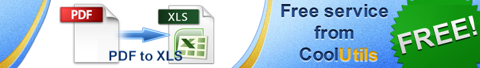convert pdf to XLS free
