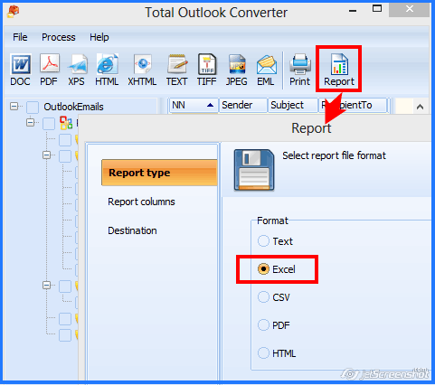 outlook to excel report
