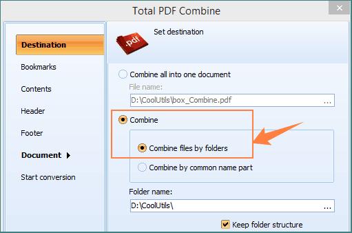 combine tiff by folders