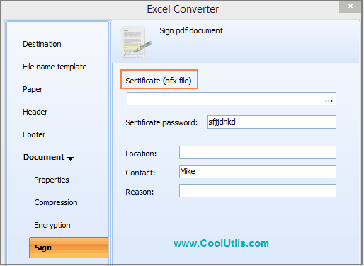 sign pdf in excel converter
