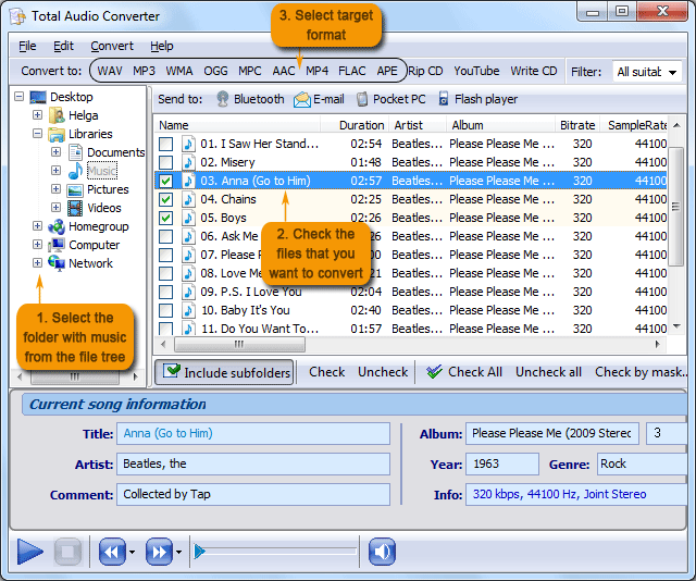 how to convert flac to play on itunes