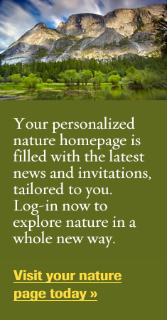 Your personalized nature homepage is filled with the latest news and invitations, tailored to you.  Log-in now to explore nature in a whole new way.