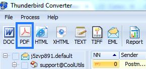 thunderbird converter formats menu