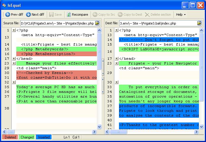 IsEqual ScreenShot 1