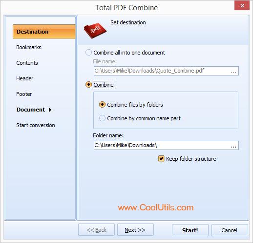 PDF Combine ScreenShot 2