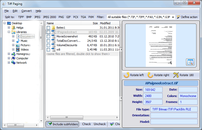 Re-arrange Pages In TIFF Files
