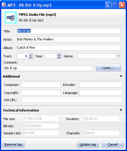 Total Audio Tags ScreenShot 2