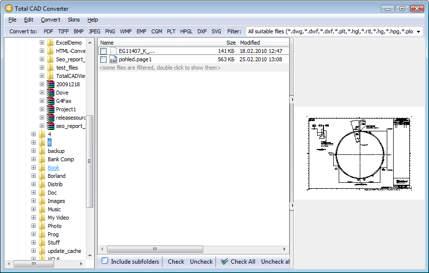 Total CAD ConverterX ScreenShot 1