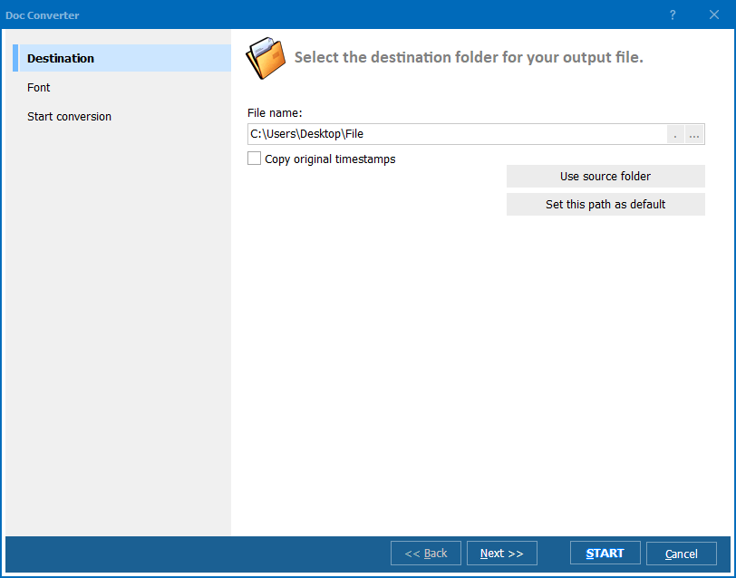 Doc Converter ScreenShot 2