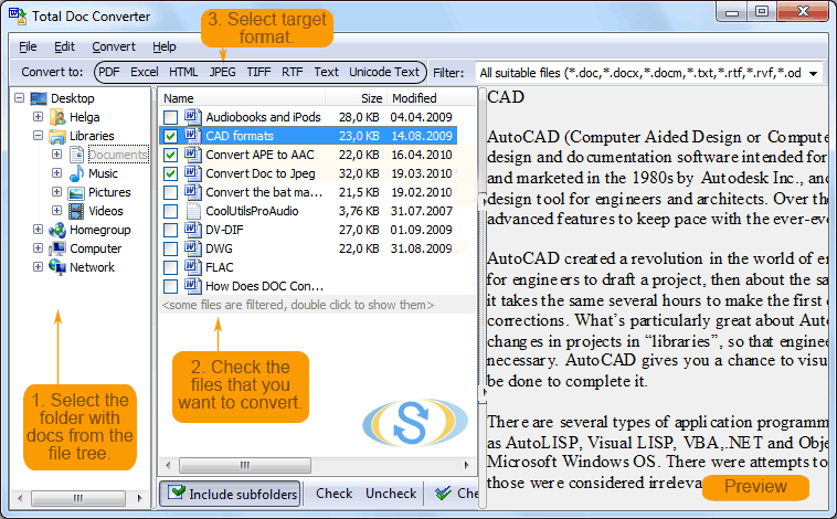 Click to view Total Doc Converter 3.2 screenshot