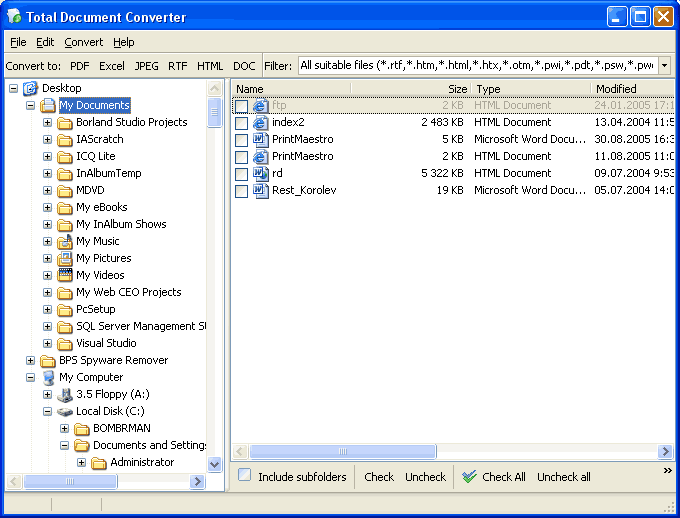 Total Doc Converter X ScreenShot 1