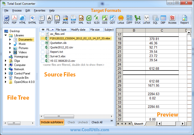 Windows 7 Total Excel Converter 3.7 full