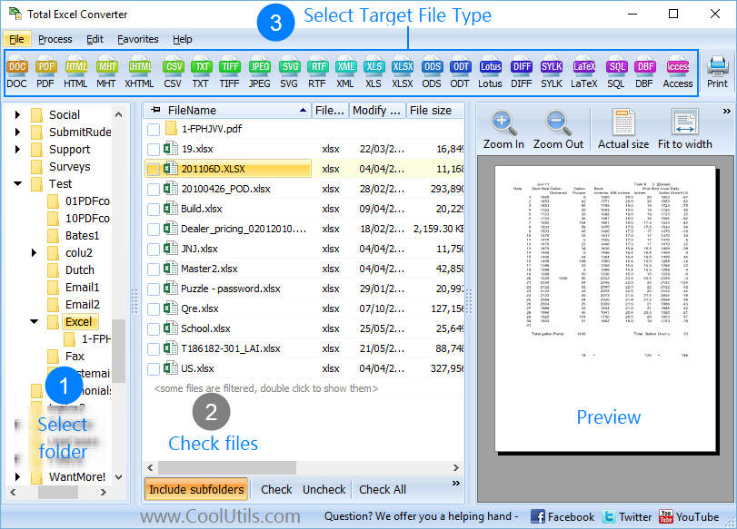 Excel Converter ScreenShot 1