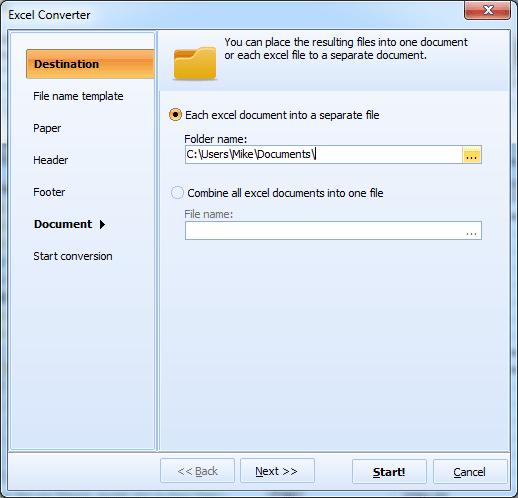 Excel Converter ScreenShot 2