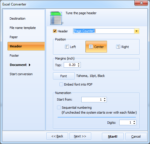 Excel Converter ScreenShot 5