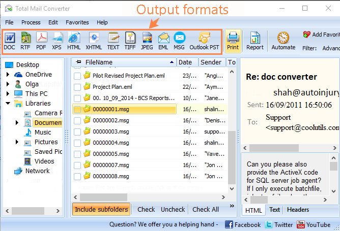 Total Mail Converter ScreenShot 1