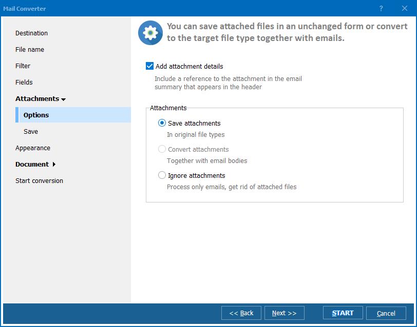Total Mail Converter Pro ScreenShot 3