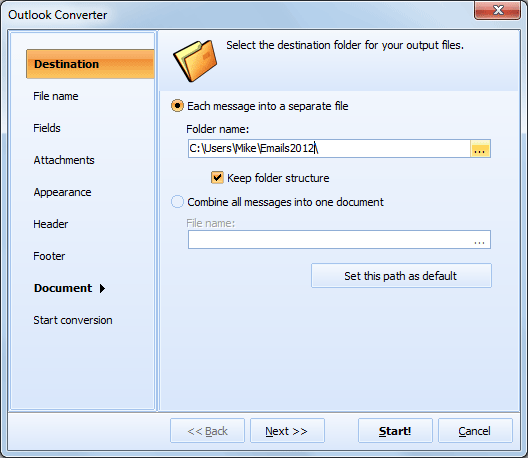 Total Outlook Converter ScreenShot 2