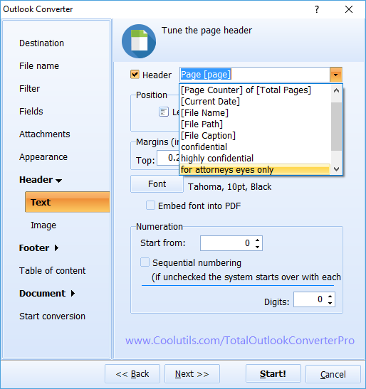Total Outlook Converter Pro ScreenShot 7