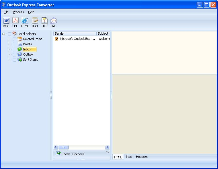 Total Outlook Express Converter ScreenShot 1