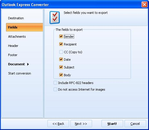 Total Outlook Express Converter ScreenShot 3