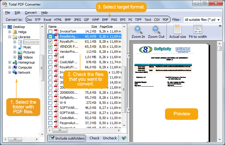 Click to view TotalPDFConverter 3.1 screenshot