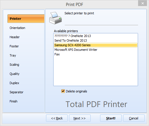 Total PDF Printer ScreenShot 2